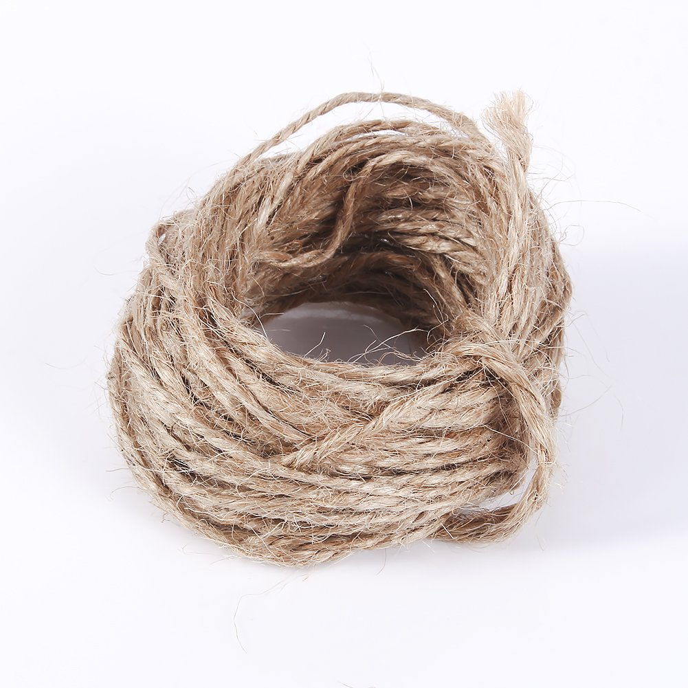 Asixx Hemp Rope, 8M Jute Twine String Hemp Rope Natural Brown for Hang Tag, Gift Packing, Jewelry Necklace Making, DIY Box etc by Asixx (Image #3)