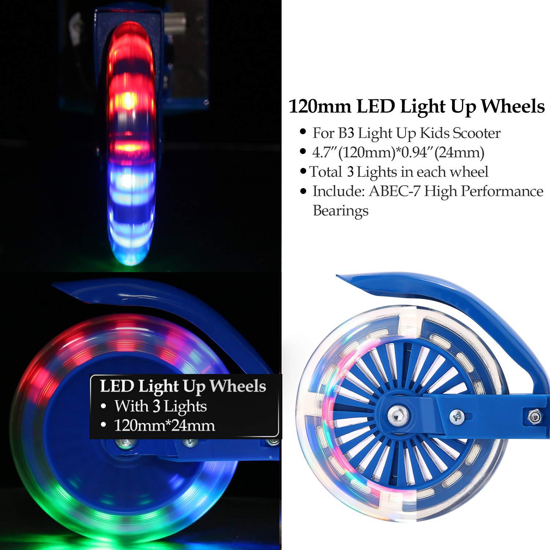 Amazon.com: YUEBO Kick Scooter para niños con ruedas LED de ...