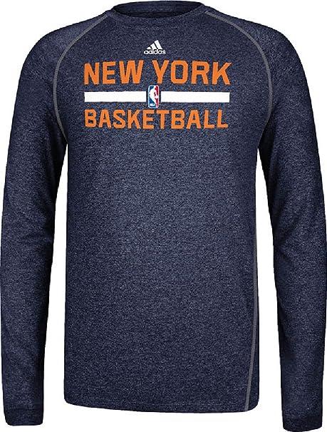 Amazon.com: New York Knicks Heather Negro Climalite práctica ...