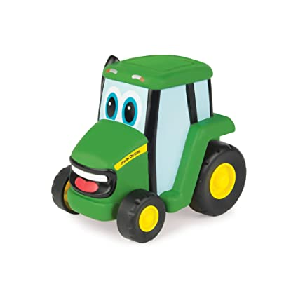 Amazon Com Tomy John Deere Push N Roll Johnny Vehicle Toys Games