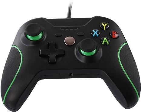 JAMSWALL Controlador de Gamepad para Xbox One, Controlador Joystick Gamepad Compatible con Xbox One S y PC Windows (Negro): Amazon.es: Videojuegos