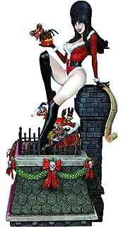 Amazon.com: Elvira Scary Christmas Deluxe Maquette Statue: Toys ...