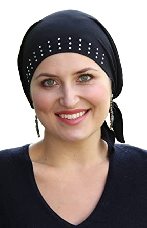 Cancer Headwear for Women Head Scarf Chemo Scarves Head Coverings Dressy  Art Deco (BLACK) 555bcc3b325