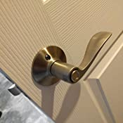 Schlage F40acc619 Accent Privacy Lever Satin Nickel