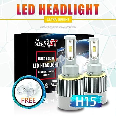 Fits Toyota H4 COB LED Headlight Bulbs Kit 8000 Lumens 12V 24V Canbus Error Free