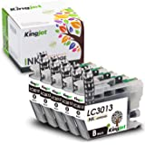 Kingjet 3013 Black Ink Replacements for Brother LC3013 Ink Cartridges Compatible with MFC-J487DW MFC-J491DW MFC-J497DW MFC-J690DW MFC-J895DW Inkjet Printers (5 Black)