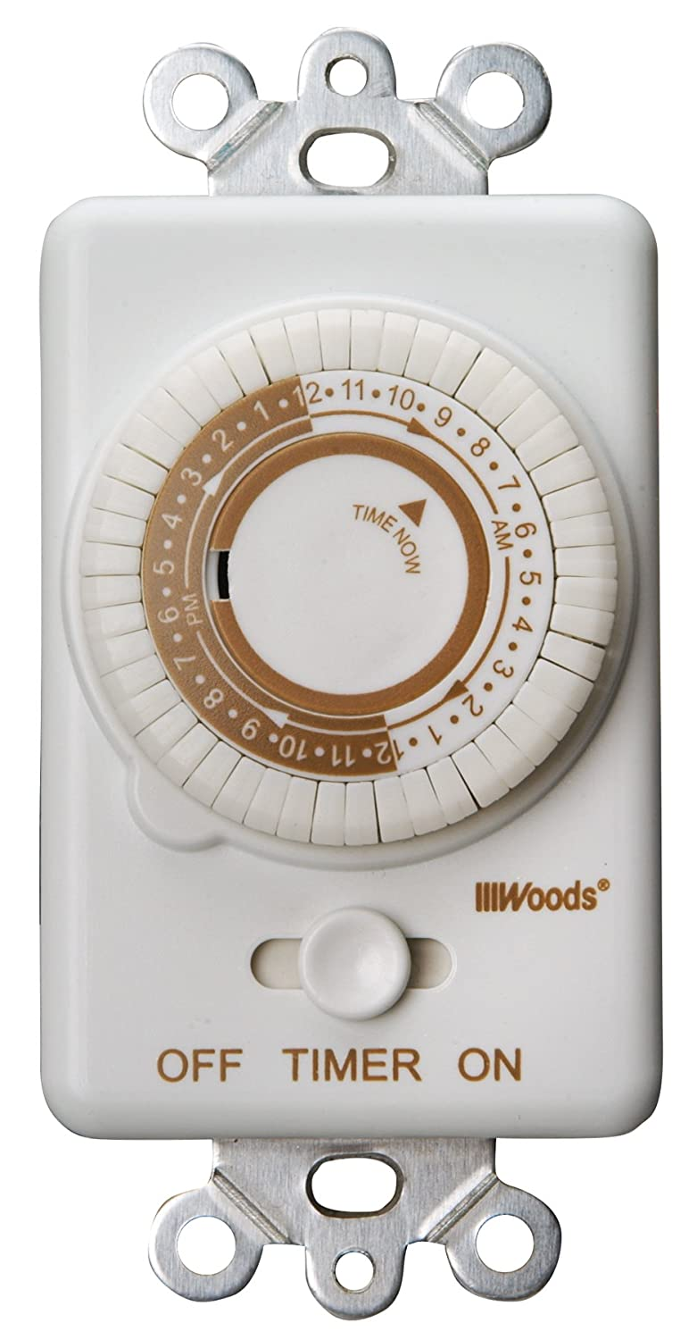Woods 59745 Switch Timer Repeats Daily, 24-Hour Cycle, Convert Light Switch to Timer