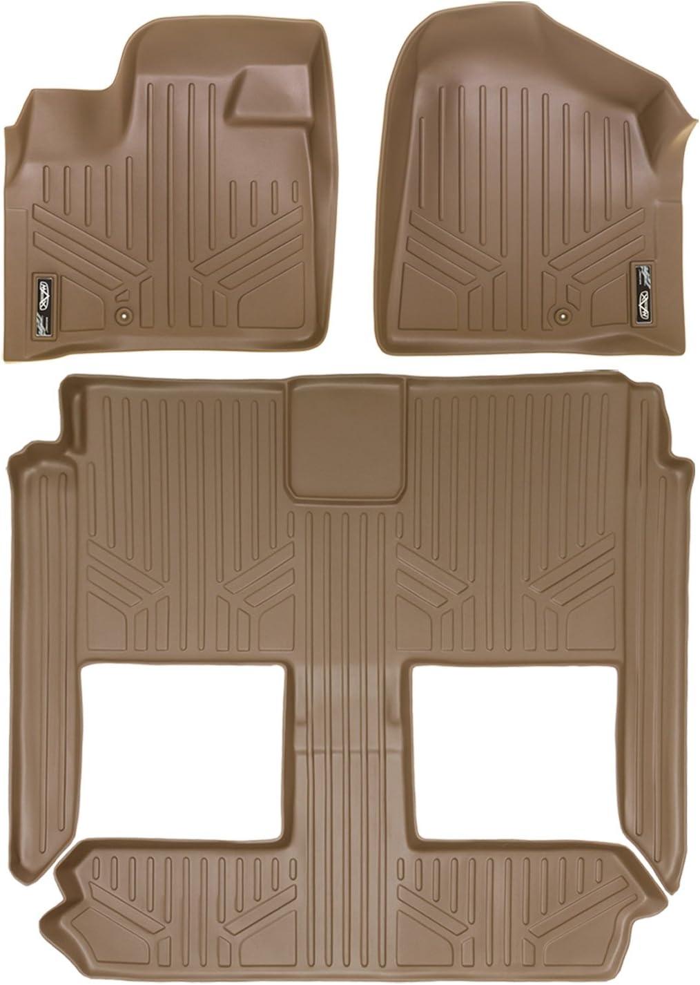 SMARTLINER Floor Mats 1st Row Liner Set Black for 2008-2018 Dodge Grand Caravan Chrysler Town /& Country