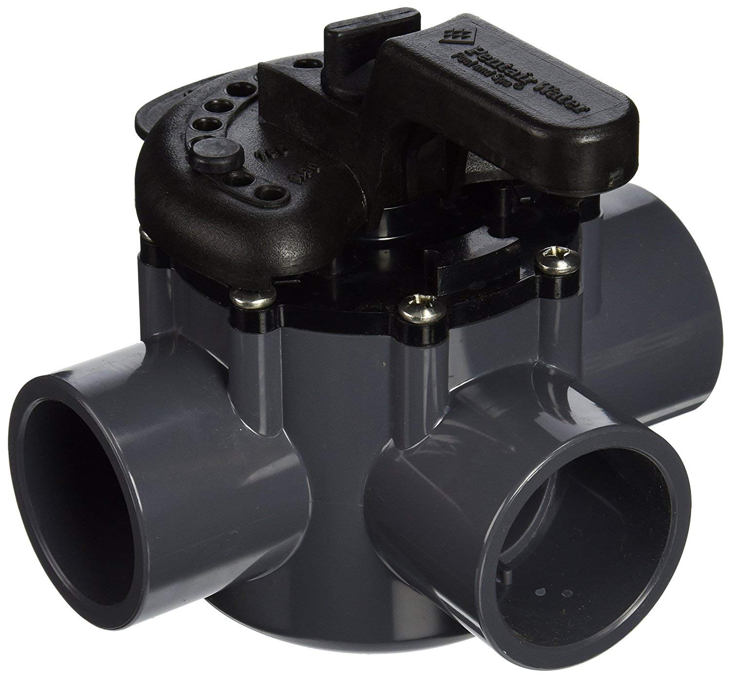 amazon com: pentair 263037 3-way pvc 1-1/2 inch (2 inch slip outside) pool  and spa diverter valve: garden & outdoor