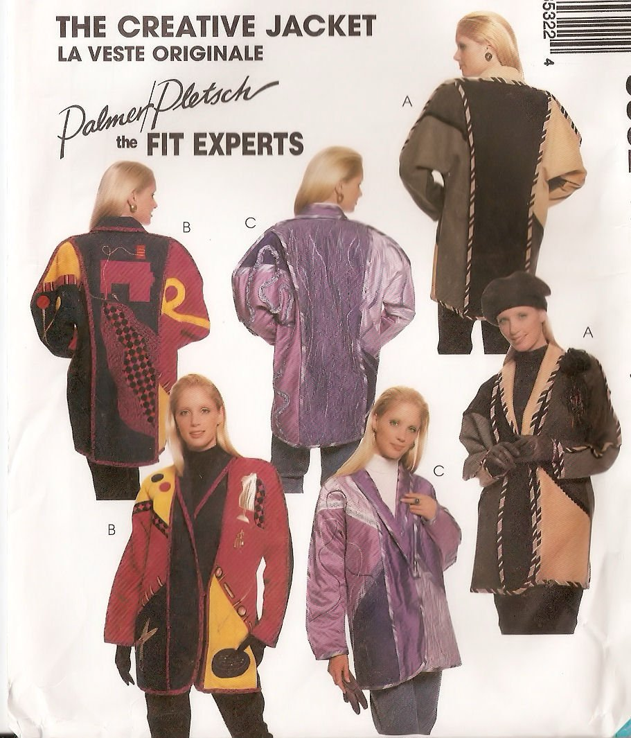 McCall's 8532 Sewing Pattern Full Figure Creative Jacket Palmer & Pletsch Size 16 - 18 by McCall's   B005GKS7L8