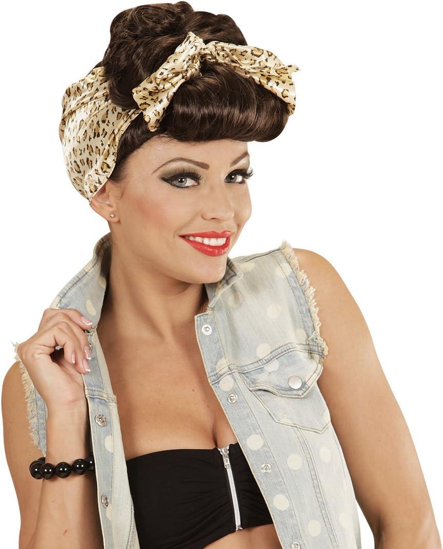 Amakando Peluca Rockabilly de Mujer Pelo postizo Chica Pin Up ...