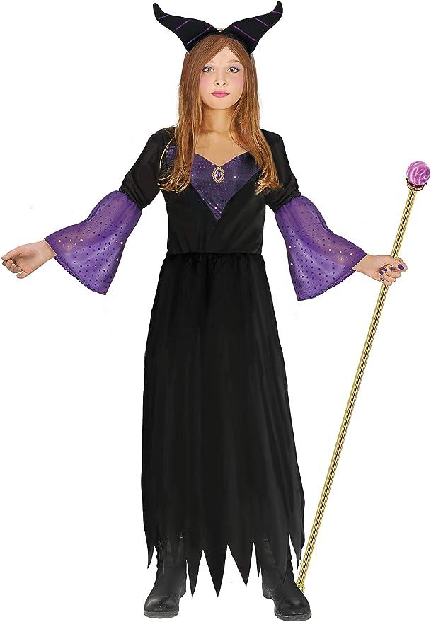 Ciao - Disfraz de bruja Maléfica para niña, 7-10 años, negro, morado, 16230.7-10: Amazon.es: Juguetes y juegos