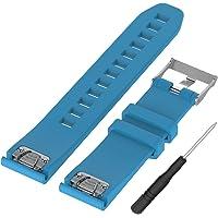 WEINISITE 22 mm Silikon verstellbares Ersatzband Armband für Garmin Fenix 5/ Approach S60 Golf/for Garmin Forerunner 935/ Quatix 5 GPS Watch