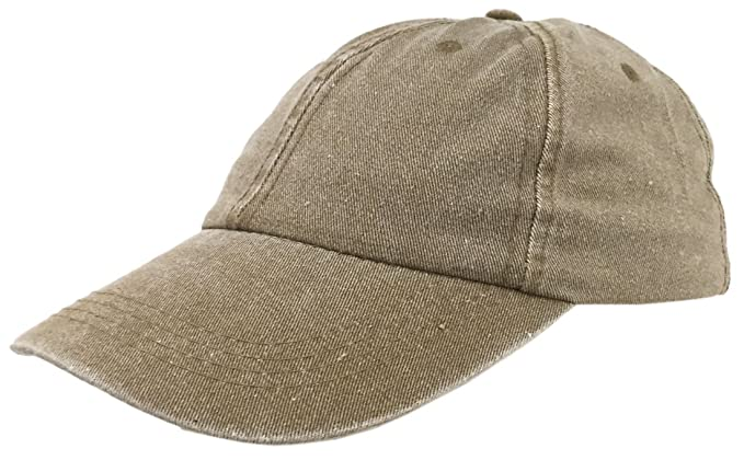 35a39ac3985 Stone Washed Fine Line Cotton Baseball Cap With Sandwich Peak 6 panel  Adjustable (Brown)