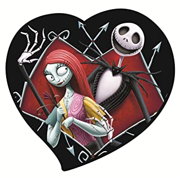 nightmare before christmas jack sally in heart magnet amazon co