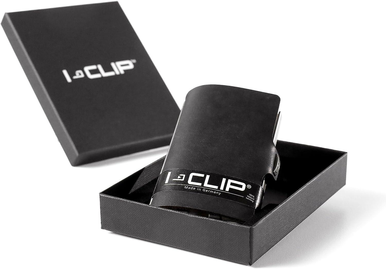 Disponible en 9 Variantes Metallic-Grey I-CLIP /® Portefeuille Soft-Touch Caramel