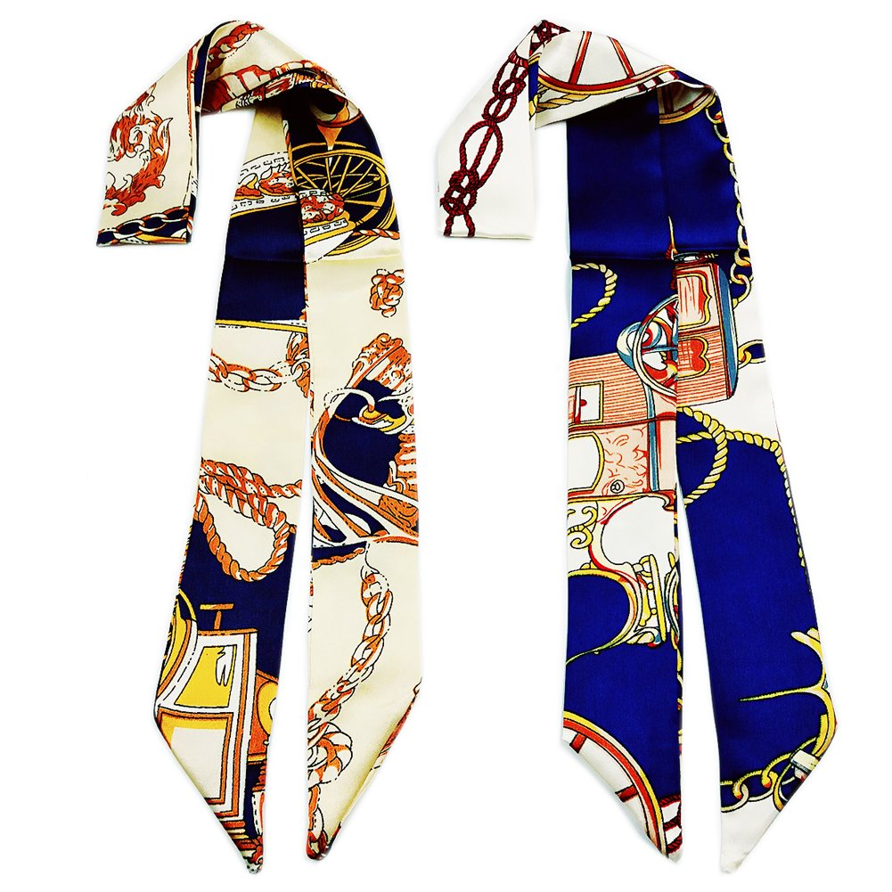 Skinny Neckerchief Scarf for Handbag Handle Silk Scarf Bracelet for Women by Bellagione
