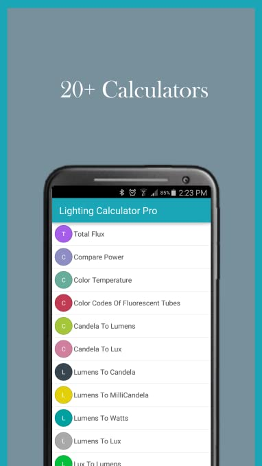 Amazon com: Lighting Calculator: Appstore for Android