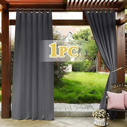 pony dance isolant thermique rideau rideaux occultants d exterieur lumineux bloquer decoration pour jardin patio anti froid chaleur largeur 132