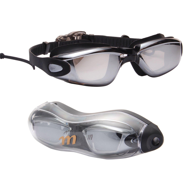 a01da587b3a Amazon.com   LianSan Myopia Swim Goggles Prescription Men Women Swimming  Glasses Uv Protection Performance Swimming Goggle Anti Fog with Ear Plugs  AF6615 ...
