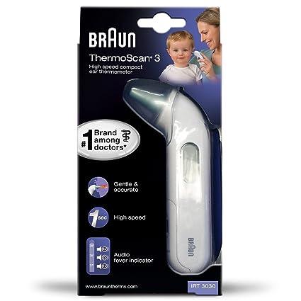 Braun irt3030 Thermoscan 3 por infrarrojos termómetro de oído