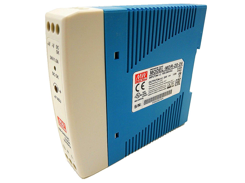 Mean Well MDR-20-24 AC to DC DIN-Rail Power Supply 24 Volt 1 Amp 24 Watt