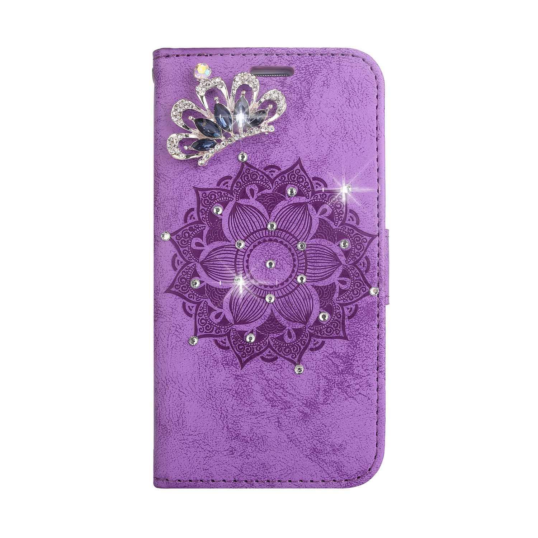 Coque LG K10, SONWO Premium PU Cuir Portefeuille de Protection Étui avec Fentes de la Carte pour LG K10, Violet