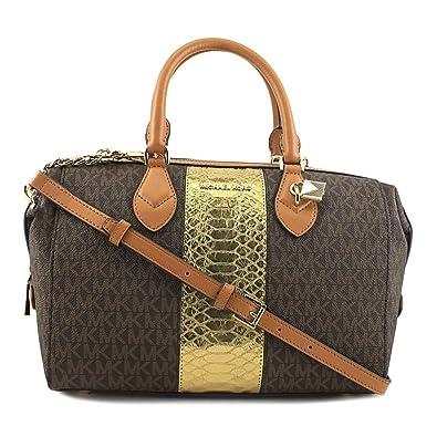 36f87cc847d92d Amazon.com: Michael Kors Grayson Large Convertible Satchel - Brown -  30F7GGYS3B-200: Shoes