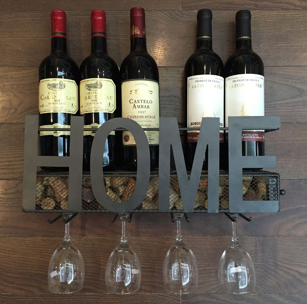 Soduku Wall Mounted Metal Wine Rack 4
