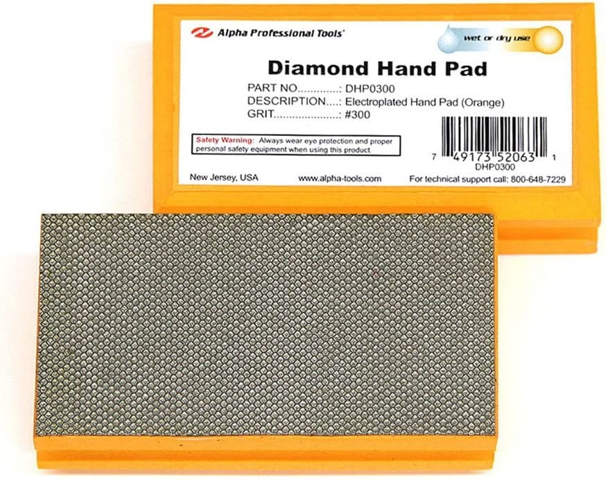 1 Alpha Diamond Hand Polishing Pad 3000 Grit Pad by Alpha Professional Tools