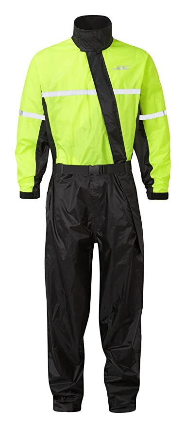 JDC Traje Impermeable Moto Lluvia Sobre Traje 1PC 1 Pieza - SHIELD - Amarillo/Negro - M - Largo Regular
