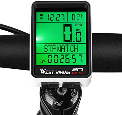 Backlight Average Speed Bicycle Speedometer Stopwatch Bike Computer Odometer