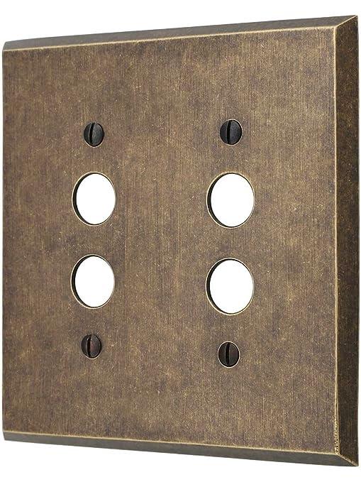 Amazon.com: Tradicional latón forjado Double Gang botón ...