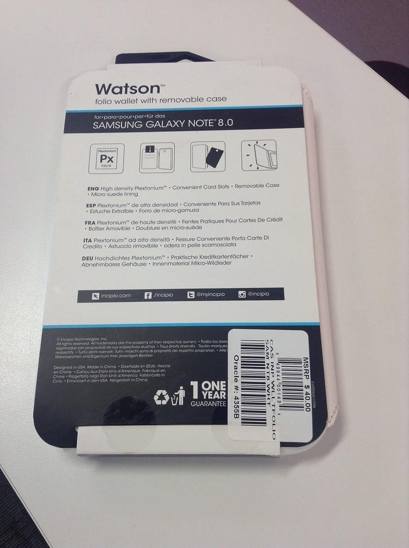 Incipio Galaxy Note 8.0 Watson Wallet Folio Case ID & Credit Cover - WHITE