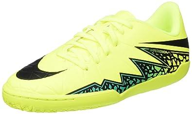 Nike Youth Hypervenomx Phelon II Indoor Shoes [Volt/Black-Hyper Turq-Clear