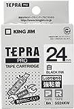 KING JIM テプラPROテープ強粘着タイプ白/黒文字 SS24KW