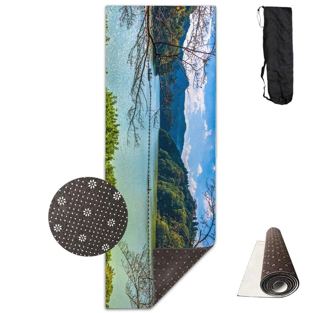 Lake Forest Yoga Mat  Advanced Yoga Mat  NonSlip Lining  Easy to Clean  LatexFree  Lightweight and Durable  Long 180 Width 61cm