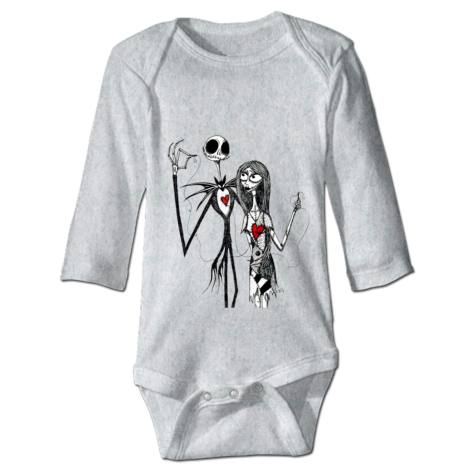 YSKHDBC Nightmare Before Christmas Printed Personalized Infant Bodysuit One-Piece