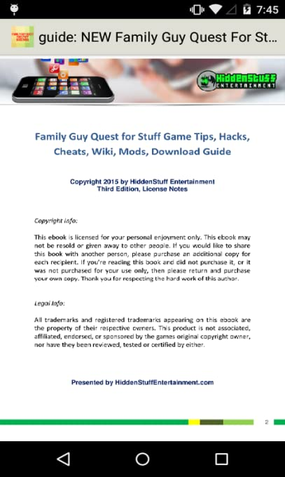 guide for FAMILY GUY QUEST FOR STUFF