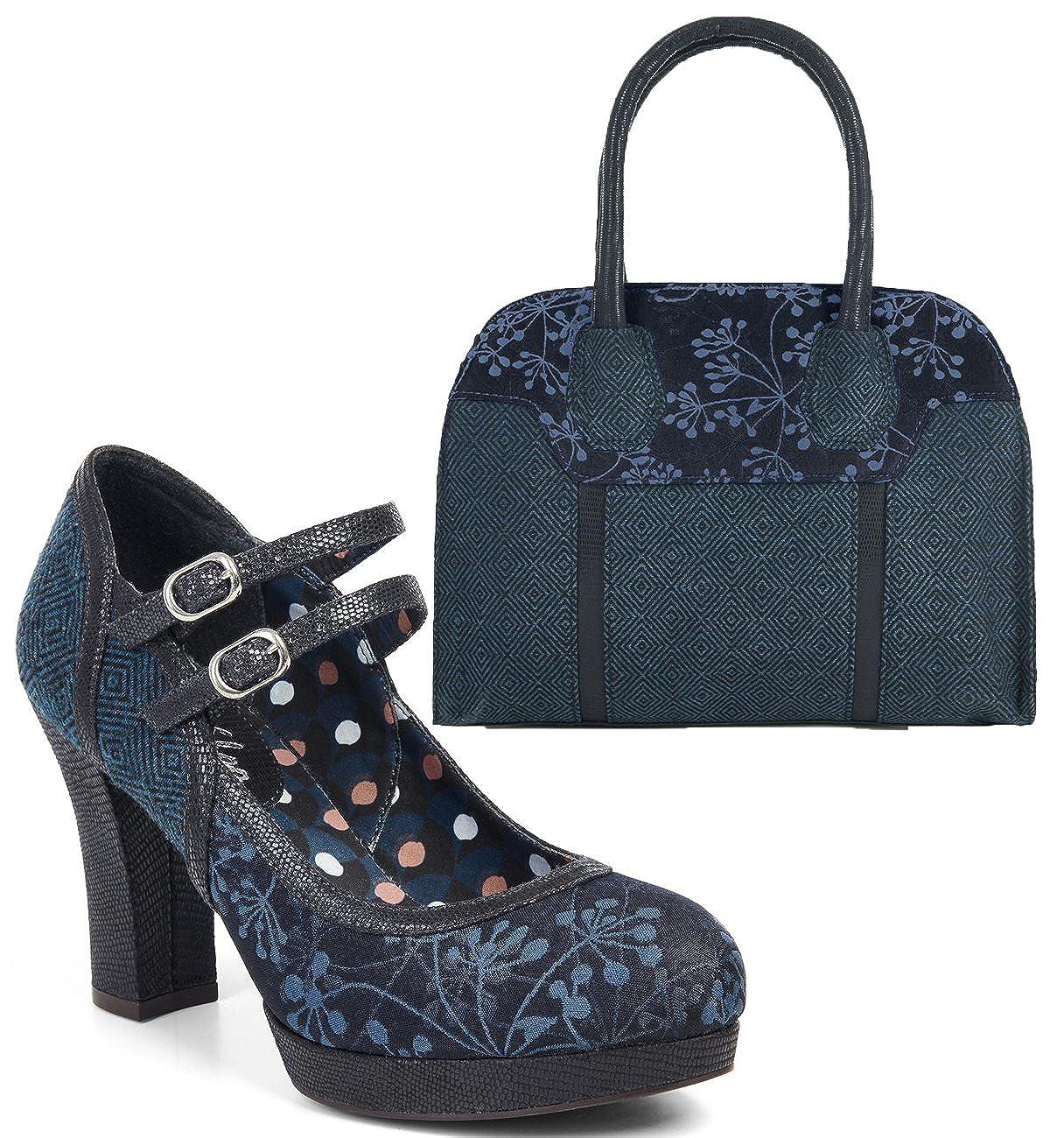 ee7f1d57992d Ruby Shoo Women s Laura Chunky Mary Jane Bar Shoes   Matching Cancun Bag   Amazon.co.uk  Shoes   Bags