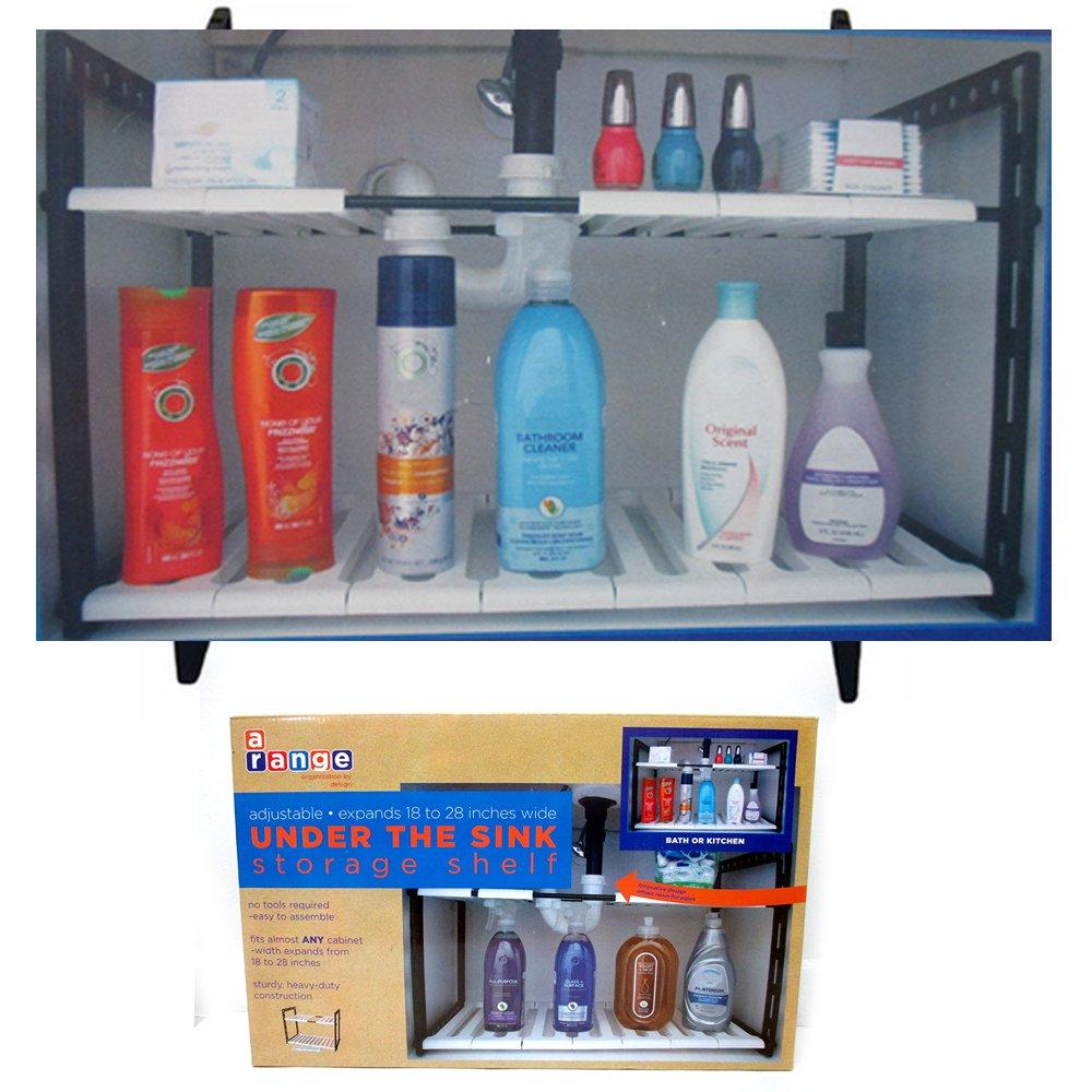 Amazon.com - 2 Tier Expandable Adjustable Under Sink Shelf Organizer ...