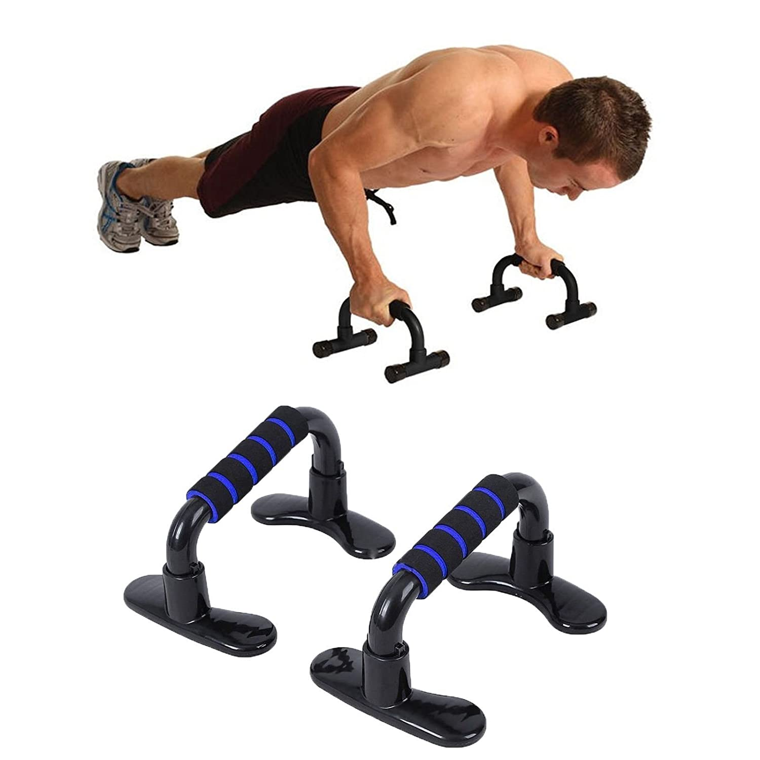 Pairs Push Up Bars Pull Stand Handle Exercise Training Pushup Chest Arms Tools