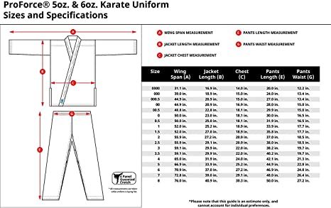 Elastic Drawstring ProForce 8 oz Karate Uniform - 55//45 Blend