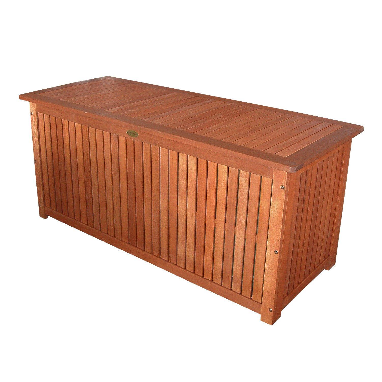 #Massive Auflagenbox Holz mit Innentasche#