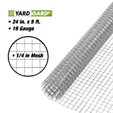YARDGARD 308231B Fence, Height - 24 Inches x Length - 5 Ft, Silver