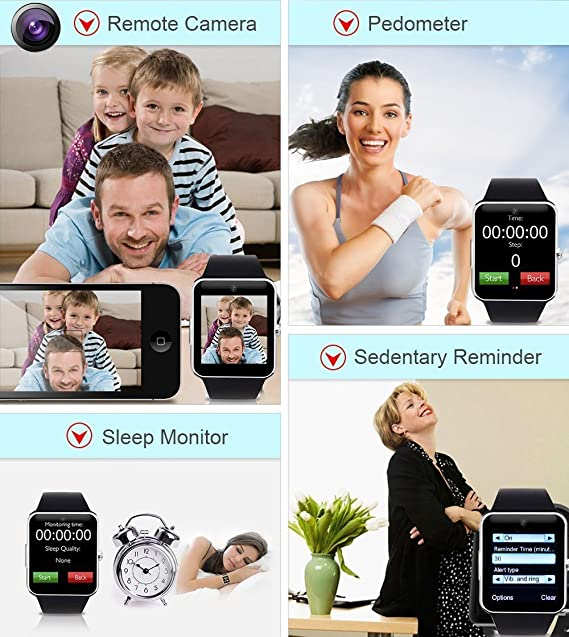 Smart Watch,Luluking YG8 Sweatproof Smart Watch Phone for Android Samsung S5 S6 S7 Note 4 5;HTC Sony LG and iPhone 5 5S 6 6 Plus 7 Google Pixel /Pixel ...