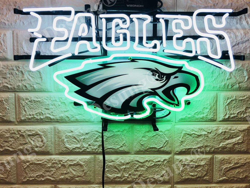 Desung 20''x16'' Philadelphia Sports Team Eagle Neon Sign (VariousSizes) HD Vivid Printing Technology Handmade Lamp Light HD42