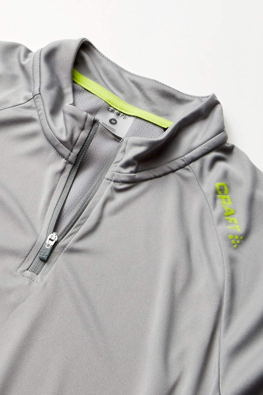 Wei/ß Grau Craft Herren Shirts Eaze Half-Zip Longsleeve