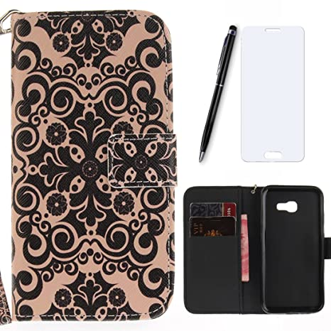 Carcasa Samsung Galaxy A5 2017, lotuslnn PU Leather Wallet ...
