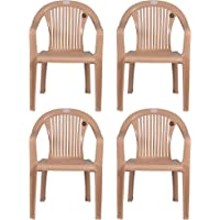 Petals Royal Plastic Arm Chair for Home and Garden Set of Four
